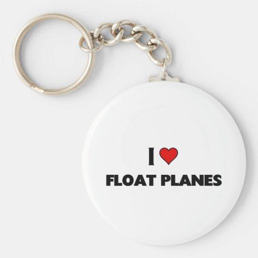 Amo los aviones del flotador llavero personalizado