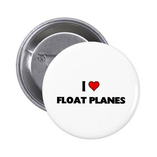 Amo los aviones del flotador pin redondo de 2 pulgadas