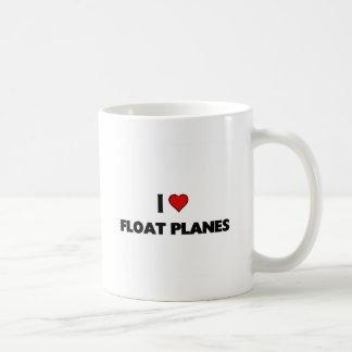 Amo los aviones del flotador taza