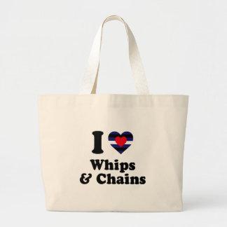 Amo los azotes y las cadenas bolsas de mano