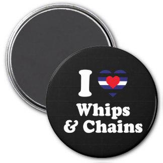 Amo los azotes y las cadenas - imán redondo 7 cm