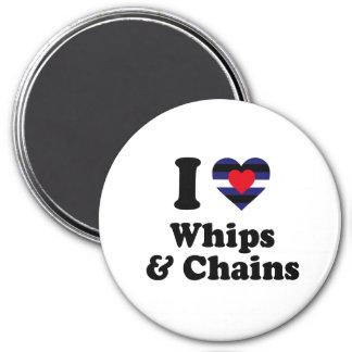 Amo los azotes y las cadenas imán redondo 7 cm