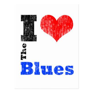 Amo los azules postal