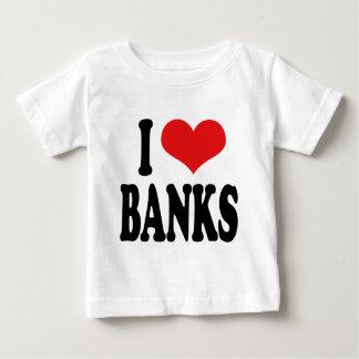 Amo los bancos playera de bebé