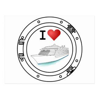 Amo los barcos de cruceros postal