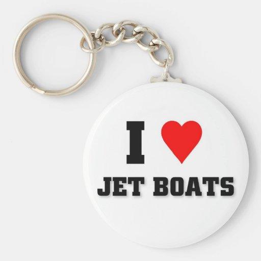 Amo los barcos del jet llaveros
