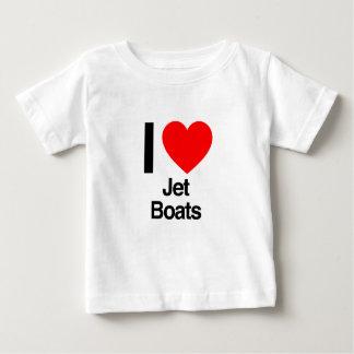 amo los barcos del jet playera de bebé