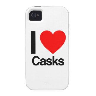 amo los barriles iPhone 4 carcasas