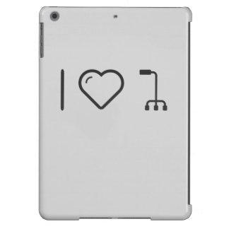 Amo los bastones funda para iPad air