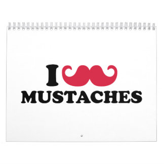 Amo los bigotes calendarios de pared