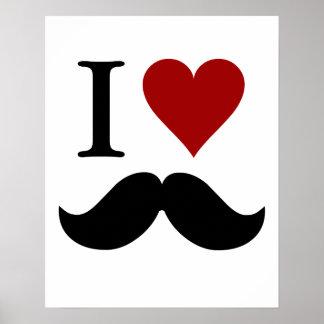 Amo los bigotes impresión o poster