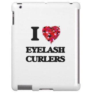Amo los bigudíes de la pestaña funda para iPad