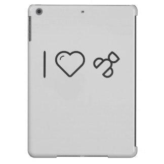 Amo los bigudíes de las pestañas funda para iPad air