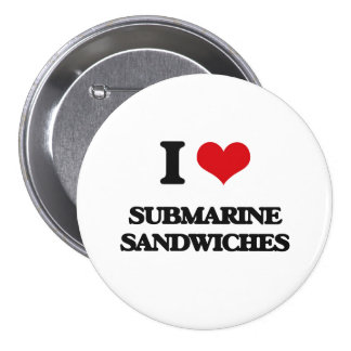Amo los bocadillos submarinos chapa redonda 7 cm