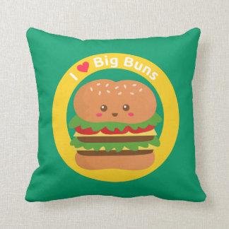 Amo los bollos grandes, hamburguesa grande de Kawa Cojin