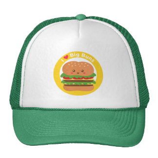Amo los bollos grandes, hamburguesa grande de Kawa Gorro De Camionero