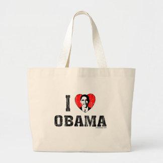 Amo los bolsos de Obama Bolsa Tela Grande