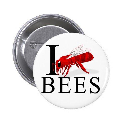 Amo los botones de las abejas pins