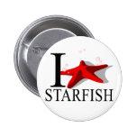 Amo los botones de las estrellas de mar pin