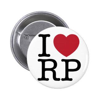 Amo los botones de Ron Paul Pin Redondo De 2 Pulgadas