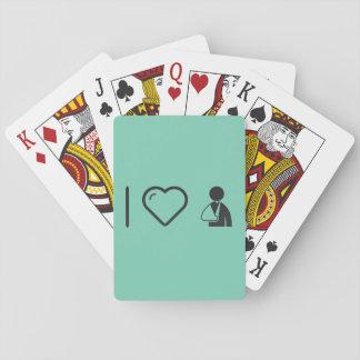 Amo los brazos quebrados barajas de cartas