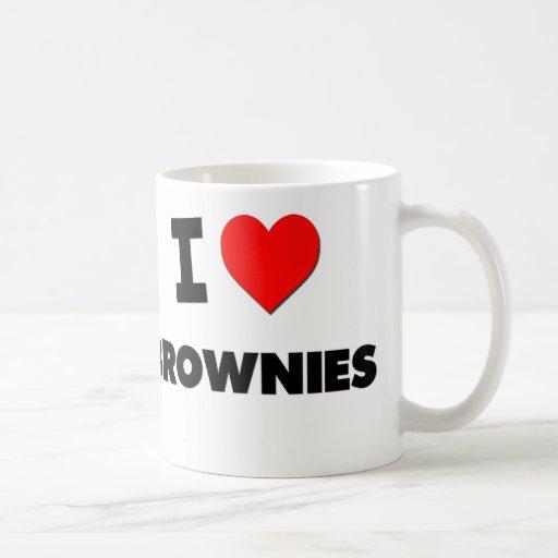 Amo los brownie (la comida) taza de café