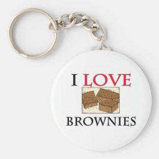Amo los brownie llaveros personalizados