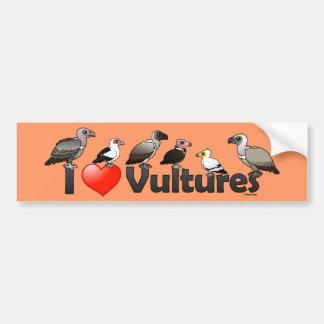 Amo los buitres (África) Etiqueta De Parachoque