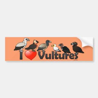 Amo los buitres (Eurasia) Etiqueta De Parachoque
