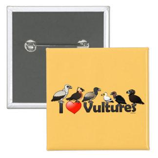 Amo los buitres (Eurasia) Pin Cuadrado