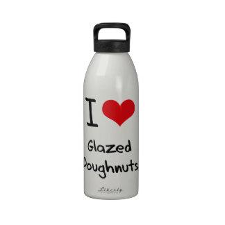 Amo los buñuelos esmaltados botellas de agua reutilizables