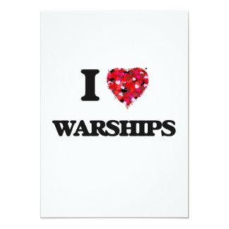 """Amo los buques de guerra invitación 5"""" x 7"""""""