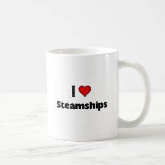 amo los buques de vapor tazas