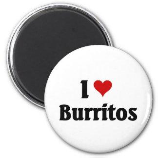 Amo los Burritos Iman De Nevera