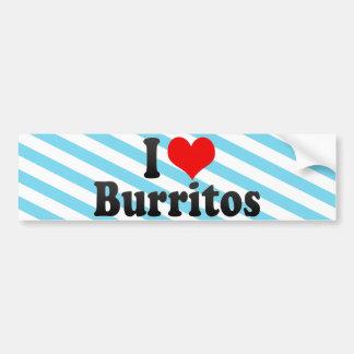 Amo los Burritos Pegatina Para Auto