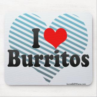 Amo los Burritos Alfombrilla De Raton
