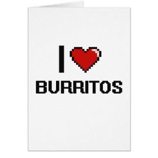 Amo los Burritos Tarjeta De Felicitación