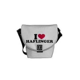 Amo los caballos de Haflinger Bolsas De Mensajeria