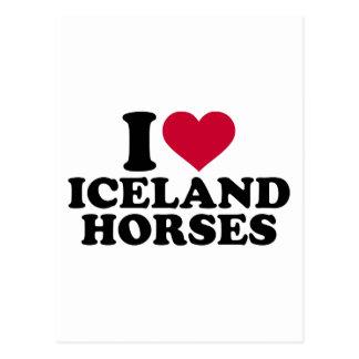 Amo los caballos de Islandia Postales