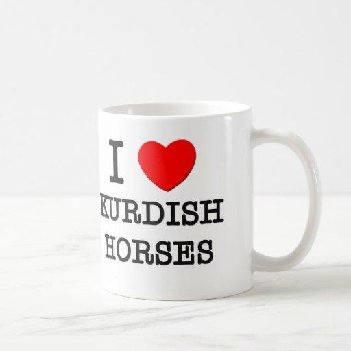 Amo los caballos kurdos (los caballos) tazas de café