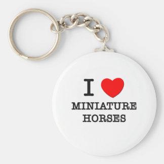 Amo los caballos miniatura (los caballos) llavero redondo tipo pin