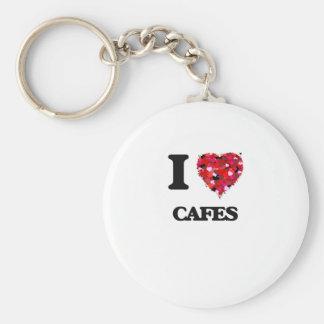 Amo los cafés llavero redondo tipo pin