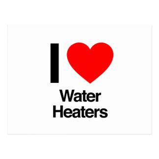 amo los calentadores de agua postales