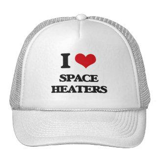 Amo los calentadores de espacio gorros