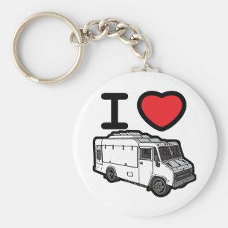 ¡Amo los camiones de la comida! Llavero Redondo Tipo Pin