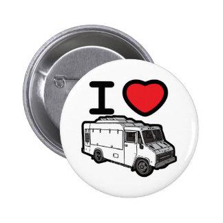 ¡Amo los camiones de la comida! Pin Redondo De 2 Pulgadas