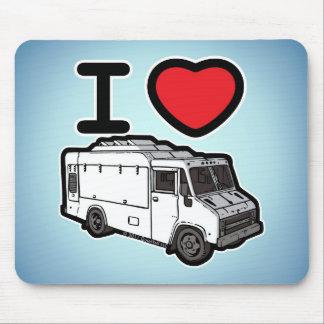 ¡Amo los camiones de la comida! Alfombrillas De Raton