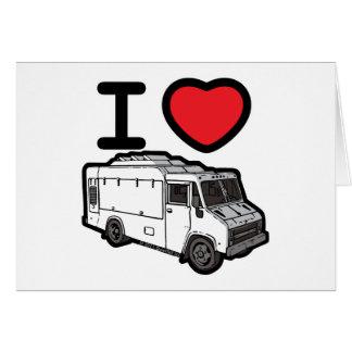 ¡Amo los camiones de la comida! Felicitación