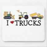 Amo los camiones tapete de raton