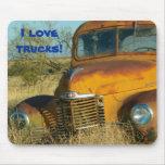 ¡Amo los camiones! Tapete De Ratón